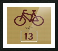Bike Route number 13 Picture Frame print