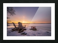 Morning by the Frozen River Picture Frame print