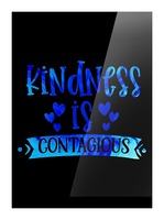 Kindness is Contagious Picture Frame print