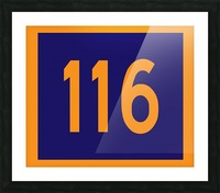 Number 116 Picture Frame print