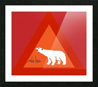 Polar Bear by dePace Picture Frame print