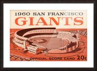 1960 San Francisco Giants Picture Frame print