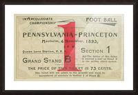 1893 Penn vs. Princeton Picture Frame print