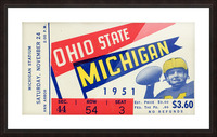 1951 Ohio State vs. Michigan Picture Frame print