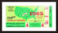 1965 World Series Ticket Stub Game 4 Picture Frame print