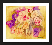Pansies Picture Frame print
