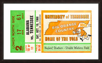 1968 Tennessee Vols Football Ticket Stub Picture Frame print