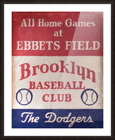 1939 Brooklyn Dodgers Picture Frame print