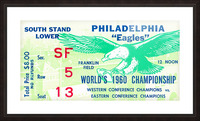 1960 Philadelphia Eagles Football Ticket Picture Frame print