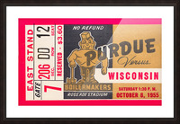 1955 Wisconsin vs. Purdue Picture Frame print