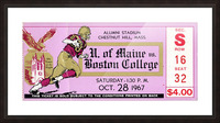 1967 Maine vs. Boston College Picture Frame print