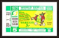 1972_Baseball_World Series_Cincinnati Reds vs. Oakland As_Oakland Alameda Coliseum_Row One Picture Frame print