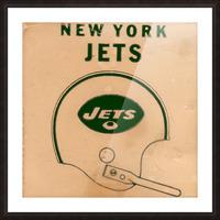 1971 New York Jets Vintage Helmet Art Picture Frame print