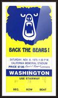 1975_College_Football_California vs. Washington_California Memorial Stadium_Row One Picture Frame print