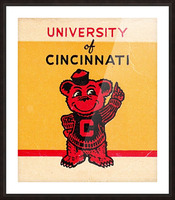 Vintage University of Cincinnati Art Reproduction Picture Frame print