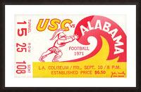 1971 Alabama vs. USC Picture Frame print