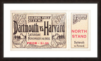 1908 Dartmouth vs. Harvard Picture Frame print