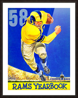 1958_National Football League_Los Angeles Rams_Yearbook_Row One Picture Frame print