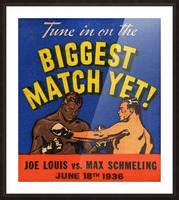 1936 Biggest Match Yet Picture Frame print