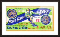 1956_College_Football_Notre Dame vs. Navy_Memorial Stadium_Baltimore_Row One Brand Picture Frame print