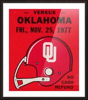 1977 Oklahoma Sooners Helmet Art Picture Frame print