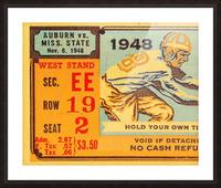 1948 Auburn vs. Mississippi State Picture Frame print