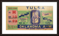 1945 Oklahoma A&M vs. Tulsa Picture Frame print
