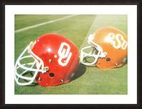 1978 Oklahoma Sooners OSU Cowboys Football Helmet Art  Picture Frame print