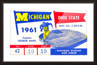 1961_College_Football_Ohio State vs. Michigan_Michigan Stadium_Ann Arbor_Row One Brand Picture Frame print