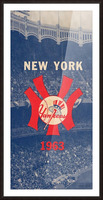 1963 New York Yankees Baseball Cover Art by Row One Brand  Picture Frame print