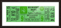 1977_National Basketball Association_Milwaukee Bucks_Row One Brand Picture Frame print