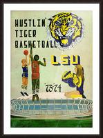 1973 Hustlin Tiger Basketball Picture Frame print