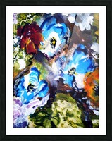 Primary Blue1 Picture Frame print