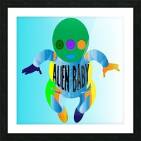 Alien Baby Picture Frame print