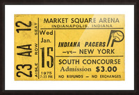 1975_American Basketball Association_New York Nets vs. Indiana Pacers_Market Square Arena_Row One Picture Frame print