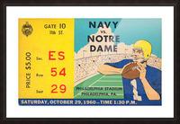 1960_College_Football_Notre Dame vs. Navy_Municipal Stadium_Row One Brand Football Art Picture Frame print