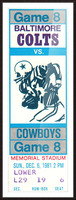 1981 Colts vs. Cowboys Picture Frame print