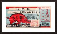 1952 SMU vs. Arkansas Picture Frame print
