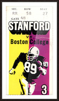 1979_College_Football_Boston College vs. Stanford_Palo Alto_Row One Brand College Art Picture Frame print