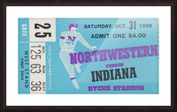 1959_College_Football_Northwestern vs. Indiana_Dyche Stadium_Row One Brand Tickets Picture Frame print