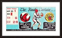 1959 South Carolina Gamecocks vs. Clemson Tigers Ticket Art Row One Brand College Picture Frame print
