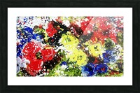 Primary Blossom Picture Frame print