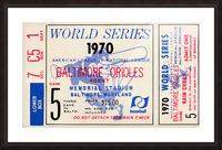 1970_Major League Baseball_World Series_Baltimore Orioles vs. Cincinnati Reds_Memorial Stadium_Row 1 Picture Frame print