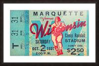 1937 Marquette vs. Wisconsin Picture Frame print