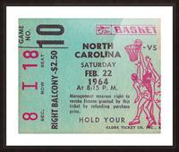 1964 College Basketball North Carolina vs. North Carolina State Picture Frame print