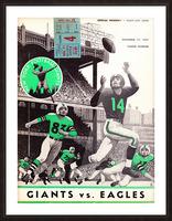 1957 New York Giants vs. Eagles Football Program Canvas Picture Frame print