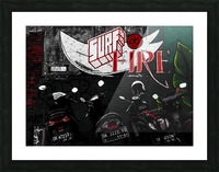 Surf Fire Picture Frame print