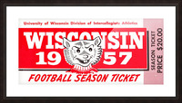 1957 Wisconsin Badgers Season Ticket Picture Frame print