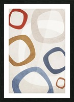 Shapes 08 - Abstract Geometric Art Print Picture Frame print