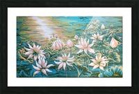 Pink lotus Picture Frame print